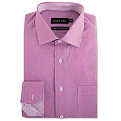 Double Two - Pink stripe formal shirt