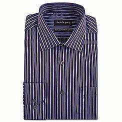 Double Two - Purple multi satin stripe formal shirt