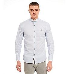 SWADE - Big and tall blue geometric long sleeve shirt