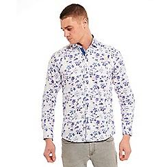 SWADE - Big and tall blue digital printed long sleeve shirt