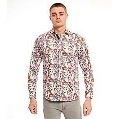 SWADE - Big and tall plum digital printed long sleeve shirt