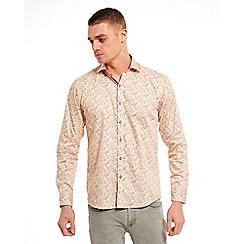 SWADE - Big and tall yellow digital printed long sleeve shirt