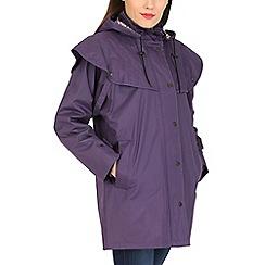 David Barry - Purple waterproof coat