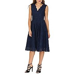 Jolie Moi - Navy scalloped lace prom midi dress