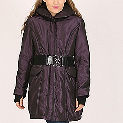 David Barry - Purple padded jacket