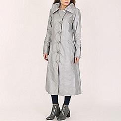 David Barry - Silver generous fitting coat