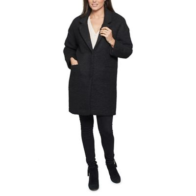 David Barry   Black Single Breasted Baggy Coat by David Barry