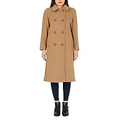 David Barry - Camel full length double breasted coat
