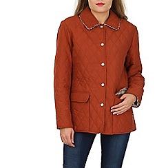 David Barry - Orange quilted jacket