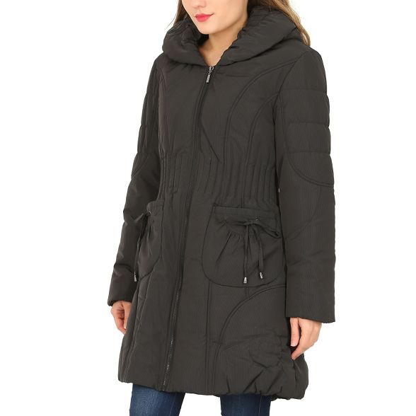 Black David coat quilted hooded Barry 8Hx7qHP0