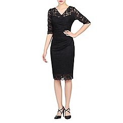 Jolie Moi - Black scalloped lace dress