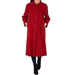 David Barry - Red large collar coat