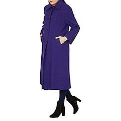 David Barry - Purple large collar coat