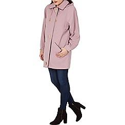 David Barry - Lilac faux silk rain jacket