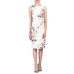 Jolie Moi - White retro floral print cotton dress