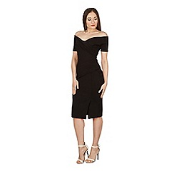 Feverfish - Black off shoulder dress