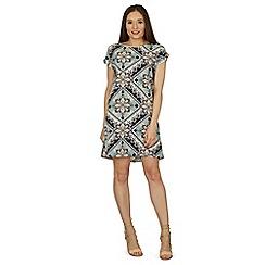 Izabel London - Green floral shift dress