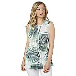 Roman Originals - Multicoloured palm print shirt