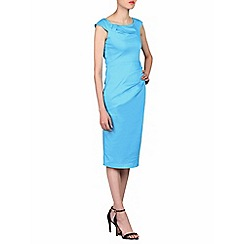 Jolie Moi - Blue scoop neckline wiggle dress