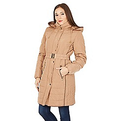 David Barry - Gold faux down quilted jacket