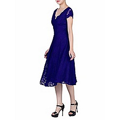 Jolie Moi - Royal cap sleeves fit & flare lace dress