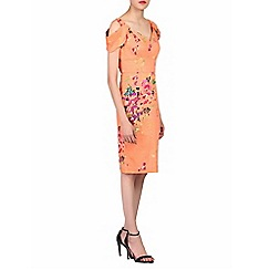 Jolie Moi - Orange floral print structured dress