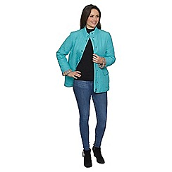 David Barry - Blue collarless popper jacket