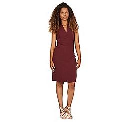 Izabel London - Wine v neck dress