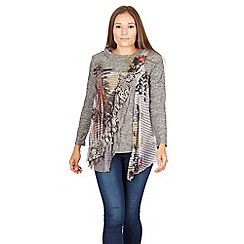 Izabel London - Grey crochet detail tunic top