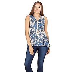 Izabel London - Multicoloured sleeveless printed zip top