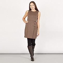 Apricot - Pale grey wrap skirt dress