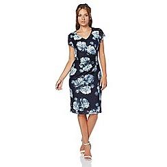 Roman Originals - Dark blue animal lace print dress