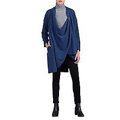 Jolie Moi - Blue asymmetric wrap front cardigan