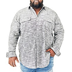 MVP Collections - Big and tall grey long-sleeve button down shirt