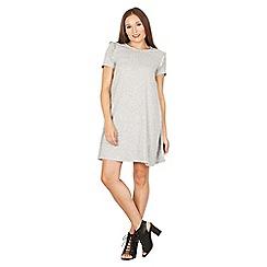 Izabel London - Light grey frill detail swing dress