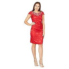 Izabel London - Red cut sleeves bodycon dress