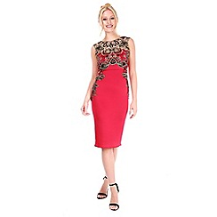 Be Jealous - Red lace insert dress