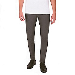 Steel & Jelly - Grey slim fit cotton stretch chinos