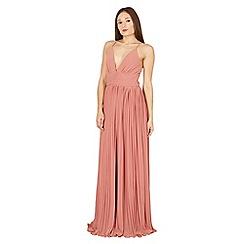 Izabel London - Pink plunge maxi dress