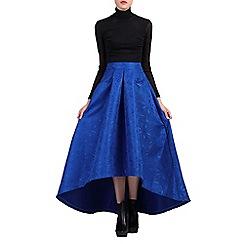 Jolie Moi - Royal jacquard high low hem prom skirt