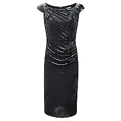 Lavitta - Silver blossom devore cap sleeves dress