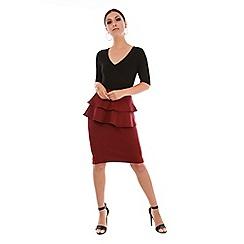 Be Jealous - Red front split frill skirt