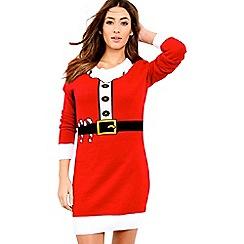 Be Jealous - Red elf knit jumper dress