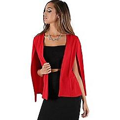 Be Jealous - Red open cape blazer