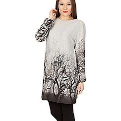 GOLDKID LONDON - Grey forest tree print tunic dress