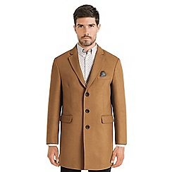 Steel & Jelly - Camel single breasted tropical lined coat