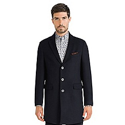 Steel & Jelly - Navy single breasted rose lined coat