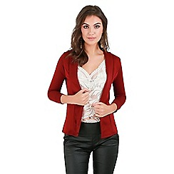 Be Jealous - Wine open front blazer coat