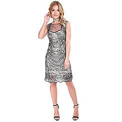 Be Jealous - Silver mesh sequin dress