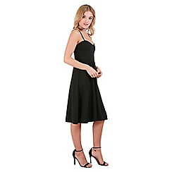 Be Jealous - Black strappy padded midi dress